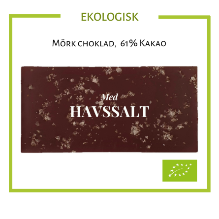 Pralinhuset - Ekologisk 61% Kakao - Havssalt -