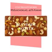 Pralinhusets - 40% Kakao - Blandade Nötter - Utan Tillsatt Socker