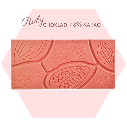 Pralinhuset - Ruby choklad - Ren - Ruby Choklad