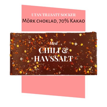 Pralinhuset - 70% Kakao - Chili & Havssalt - Utan Tillsatt Socker -