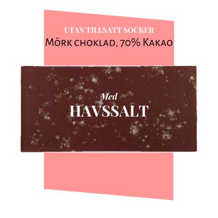 Pralinhuset - 70% Kakao - Havssalt - Utan Tillsatt Socker -