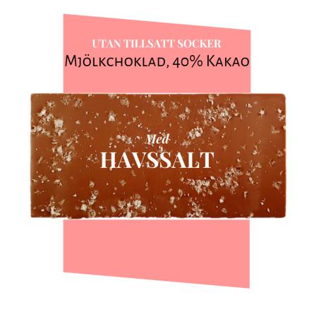 Pralinhuset - 40% Kakao - Havssalt - Utan Tillsatt Socker -