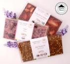 Kampanj: 3 x Pralinhuset Favorit Chokladkakor (40% Salt Karamell, 70% Hallon & Jordgubb, Ruby & Viol)