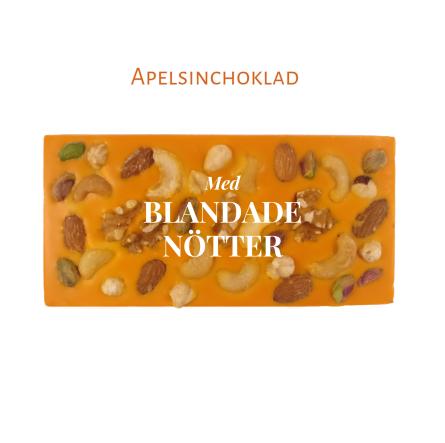 Pralinhuset - Vit Choklad - Apelsinchoklad - Blandade Nötter -