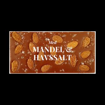 Pralinhuset - 40% Kakao - Mandel & Havssalt - Ljus Choklad