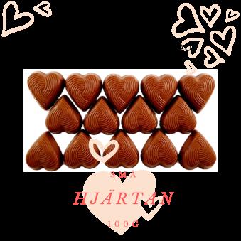 Pralinhuset - Small Hearts - 40% Kakao - 40% Kakao