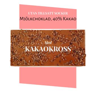 Pralinhuset - 40% Kakao - Kakaokross - Utan Tillsatt Socker -