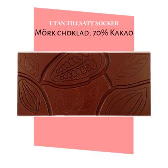 Pralinhuset - 70% Kakao - Ren - Utan Tillsatt Socker -