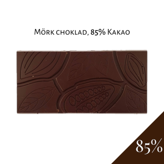 Pralinhuset - 85% Kakao - Ren - Mörk Choklad