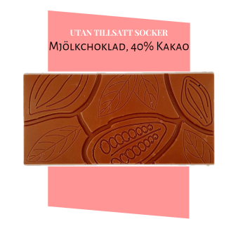 Pralinhuset - 40% Kakao - Ren - Utan Tillsatt Socker -