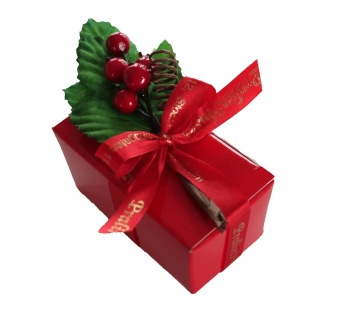 Pralinhusets Julask - Röd - 125 gram - Vanlig