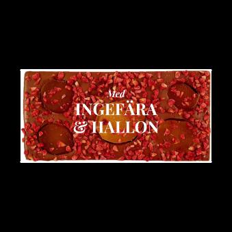 Pralinhuset - 40% Kakao - Hallon & Ingefära - Ljus Choklad