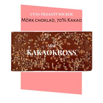 Pralinhuset - 70% Kakao - Kakaokross - Utan Tillsatt Socker -