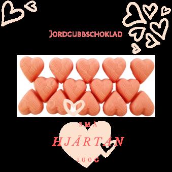 Pralinhuset - Small Hearts - Jordgubbschoklad - Vit Choklad
