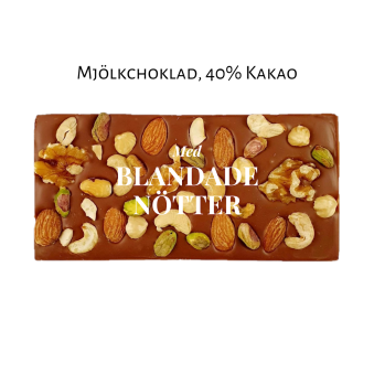 Pralinhusets - 40% Kakao - Blandade Nötter - Ljus Choklad