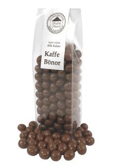Pralinhuset - Kaffebönor i Ljus Choklad -