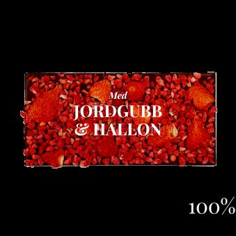 Pralinhuset - 100% Kakao - Jordgubb & Hallon -