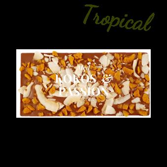 Pralinhuset - 40% Mjölkchoklad - Tropical (Kokos & Passionsfrukt) -