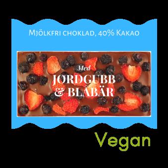 Pralinhuset - 40% Kakao - Jordgubb & Blåbär - Mjölkfri -