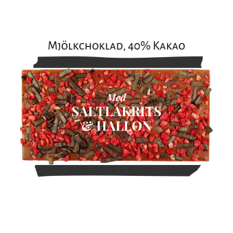 Pralinhuset - 40% Kakao - Hallon & Lakrits - Ljus Choklad