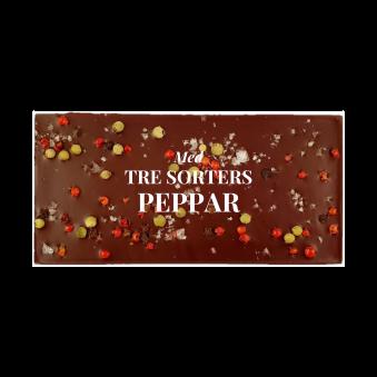 Pralinhuset - 70% Kakao - Tre Sorters Peppar - Mörk Choklad