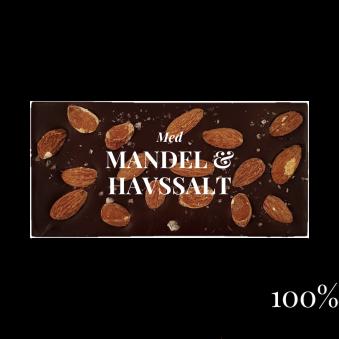 Pralinhuset - 100% Kakao - Mandel & Havssalt -