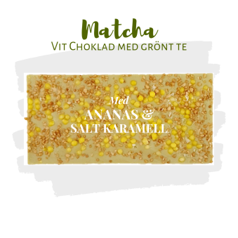Pralinhuset - Matchachoklad (Grönt Te) - Ananas, Karamell & Havssalt -