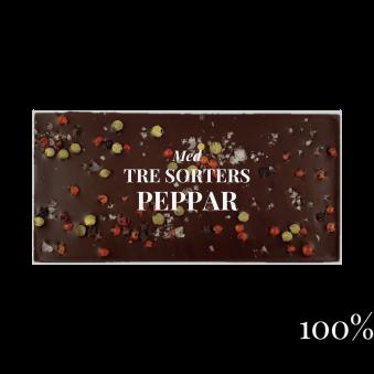 Pralinhuset - 100% Kakao - Tre Sorters Peppar -