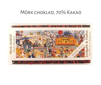 Pralinhuset - 70% Kakao - Gunilla Mann - Jordgubb & Hallon -
