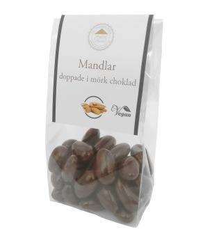 Pralinhuset - Mandlar Doppade i Mörk Choklad -