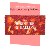 Pralinhuset - 40% Kakao - Jordgubb & Hallon - Utan Tillsatt Socker