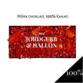Pralinhuset - 100% Kakao - Jordgubb & Hallon