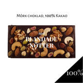 Pralinhuset - 100% Kakao - Blandade Nötter