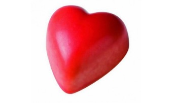 Pralin & Tryffel - Julio - Rött Nougat Hjärta - Ljus Choklad