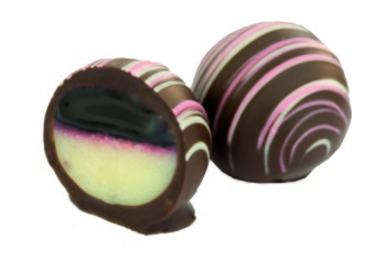 Pralin & Tryffel - Panna Cotta Körsbärs Tryffel - Mörk Choklad