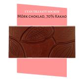Pralinhuset - 70% Kakao - Ren - Utan Tillsatt Socker