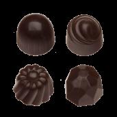 Pralin & Tryffel - Dark - Hasselnötter & Nougat - Utan Tillsatt Socker