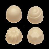 Pralin & Tryffel - White - Hasselnötter & Nougat - Utan Tillsatt Socker