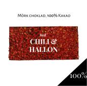 Pralinhuset - 100% Kakao - Chili & Hallon