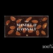 Pralinhuset - 100% Kakao - Mandel & Havssalt