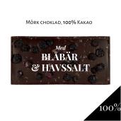 Pralinhuset - 100% Kakao - Blåbär & Havssalt