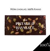 Pralinhuset - 100% Kakao - Pistage & Havssalt