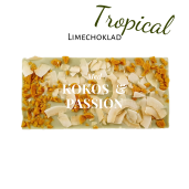 Pralinhuset - Limechoklad - Tropical (Kokos & Passionsfrukt)