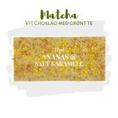 Pralinhuset - Matchachoklad (Grönt Te) - Ananas, Karamell & Havssalt