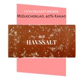 Pralinhuset - 40% Kakao - Havssalt - Utan Tillsatt Socker