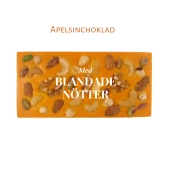 Pralinhuset - Vit Choklad - Apelsinchoklad - Blandade Nötter