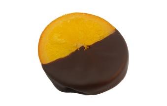 Pralin & Tryffel - Syltad Apelsinskiva Doppad i Mörk Choklad -