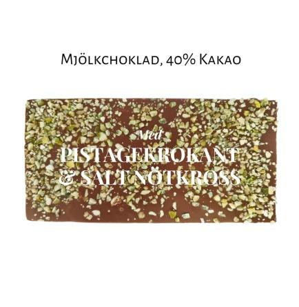 Pralinhuset - 40% Kakao - Pistagekrokant & Salt Nötkross -