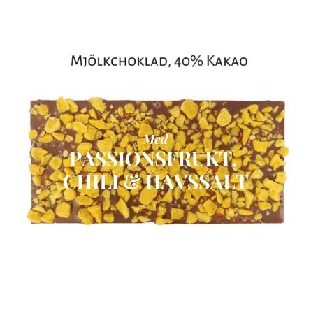 Pralinhuset - 40% Kakao - Passionsfrukt, Chili & Havssalt -