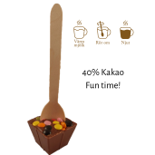 Pralinhuset - Drickchoklad - 40% Kakao - Fun Time
